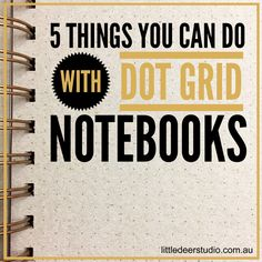5 Things You Can Do with Dot Grid Notebooks Notebook Drawing, Dot Grid Notebook, My Market, Notebooks For Sale, Keeping A Journal, Stationery Items, 5 Things, You Can Do, To Tell