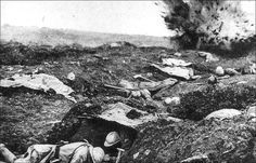 Shellburst, Battle of Verdun, 1916. Considering the state of photography then, this is a real lucky shot, no pun intended.