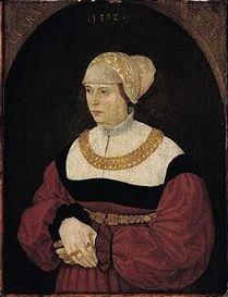 Conrad Faber von Creuznach  Portrait of clara burckhart, aged 30, standing three-quarter length, 1532