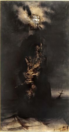 Victor Hugo, The Casquets Lighthouse 1866
