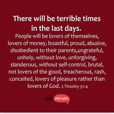 2 Timothy 3:1-4