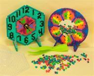 Perler Bead Clock or Mirror  http://www.eksuccessbrands.com/perlerbeads/Projects/Clock_and_Mirror.htm