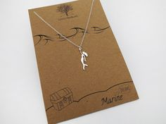 Mermaid Necklace  Nautical Necklace Mermaid by WrensHandiwork