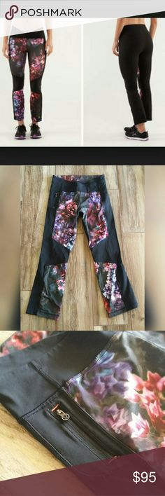 Lululemon Pump It Up Pant Size 8 Spring has sprung rare print Worn once or twice, I'm more of a size 6 so these did not fit me. No issues or fading.   Bundle with another item for a private discount ❤ I Love Offers ❤ No Trades ❤ lululemon athletica Pants Ankle & Cropped