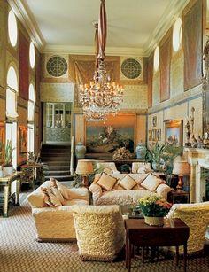 Design Legends: Renzo Mongiardino : Architectural Digest, home in London