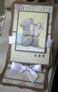 Tatty Teddy Easel Card by: Kids Cards, Baby Cards, Pinterest Cards, Stepper Cards, Bear Card, Craftwork Cards, Birthday Cards For Boys, Shaped Cards, Tatty Teddy