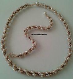 Beadwork ,necklace, and bracelet..   Boncuk işi,kolye,bileklik...Şermince Takı Tasarım