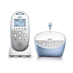 Philips Avent Dect Baby Monitor with Temperature Sensor and Night Mode, SCD570/10, Gray