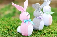 Sock Bunny (Easter Crafts for Kids)