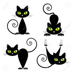 black cat drawing outline - Google Search