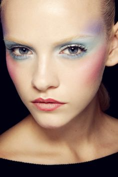 Backstage at Viktor Spring 2012. So delicate, it reminds me of watercolors. #WinWayneGossTheCollection