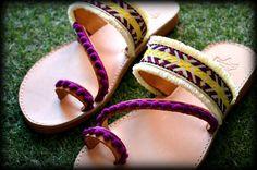 Boho Pom Pom Sandals Greek Sandals by jvFairytales on Etsy Boho Sandals, Greek Sandals, Pom Pom Sandals, Flip Flops, Espadrilles, Etsy, Shoes, Women, Fashion