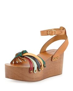 Zia+Knotted+Leather+Sandal,+Multi+by+Isabel+Marant+at+Bergdorf+Goodman.