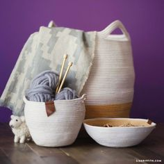 DIY Cotton Clothesline Baskets