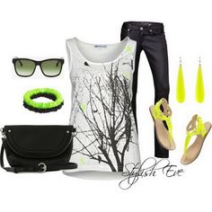 Trendy Spring/ Summer 2013 Outfits for Women - Fashion Diva Design love shirt not the yellow though