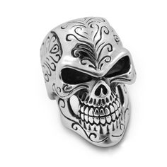 Skull Ring Men Punk Gothic Anillos Stainless Steel Vintage Rings For Men Alianzas De Boda Viking Jewelry New Arrival 2017