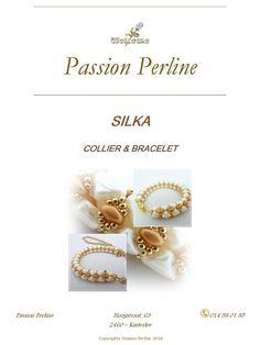 Pattern necklace and bracelet SILKA by PASSIONPERLINE on Etsy