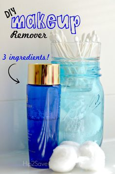 Create your own make up remover with just 3 ingredients.