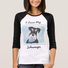 #Schnauzer (Miniature) T-Shirt - #miniature #schnauzer #puppy #schnauzers #dog #dogs #pet #pets #cute #miniatureschnauzer