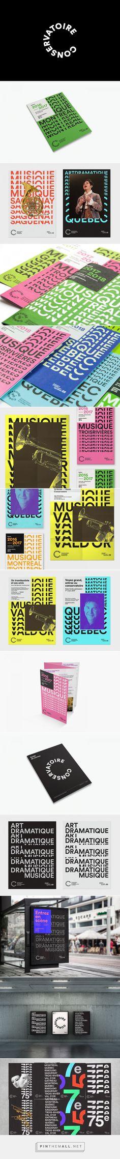 Conservatoire de Musique et d'Art Dramatique du Québec on Behance... - a grouped images picture - Pin Them All Identity Design, Brochure Design, Visual Identity, Logo Design, Graphic Design Print, Graphic Design Inspiration, Typography Logo, Logos, Book Layout