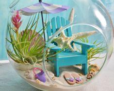Beach Terrarium Kit Beach Towel Flamingo by BeachCottageBoutique