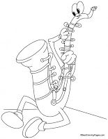 Saxophone Coloring Page For Adults