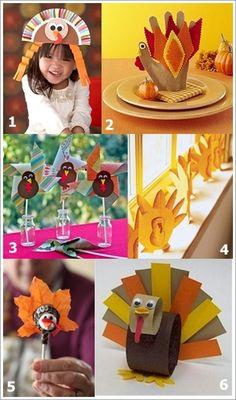 Thanksgiving Turkey Crafts For Kids