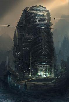 station on asteroid | #cyberpunk #scifi #darkfuture #bravenewworld