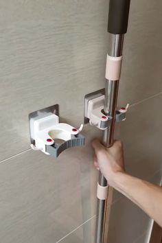 Mop Holder & Locker 👍 - Mop Holder & Locker 👍 You are in the right place about diy Here we offer you the most beautiful - Home Decor Hooks, Home Decor Kitchen, Diy Home Decor, Room Decor, Cool Kitchen Gadgets, Home Gadgets, Diy Home Cleaning, Cleaning Hacks, Bathroom Cleaning