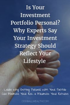 Is Your Investment Portfolio Personal? Why Experts Say Your Investment Strategy Should Reflect Your Lifestyle. Learn why getting personal with your portfolio can minimize your risk and maximize returns!  To read article visit: http://oddballwealth.com/key-successful-investing-asset-allocation/ #investment #asset #indexfund #investmentportfolio #cash #stockmarket #money #lifestyle #returnoninvestment #investing