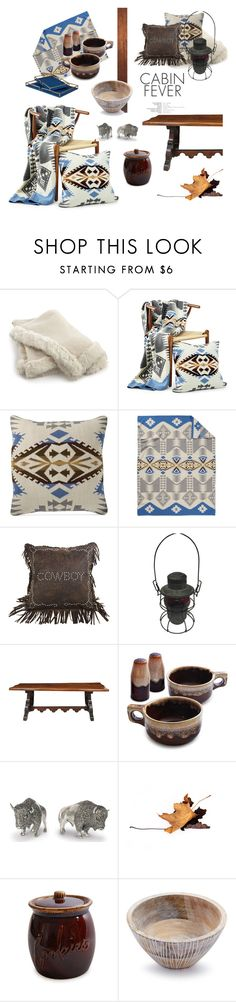 """""""Cabin Fever: Western Style"""" by fl4u ❤ liked on Polyvore featuring interior, interiors, interior design, home, home decor, interior decorating, ADAM, Hotel Collection, Pendleton and HiEnd Accents"""