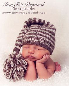Knitting PATTERN Hat Baby Long Tail Elf Pixie Knit Hat PDF 211 - Newborn to 12 Months - Permission To Sell Finished Item - Photography Prop. $3.99, via Etsy.