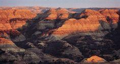 Dusk settles over the rugged beauty of the North Dakota Badlands