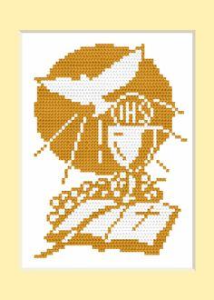 "Photo from album ""Схемы для Вышивки / Schemi punto croce"" on Yandex. Religious Cross Stitch Patterns, Faith Crafts, Crochet Placemats, Catholic Crafts, Cross Stitch Angels, Church Design, Fair Isle Pattern, Plastic Canvas Patterns, Cross Stitch Embroidery"