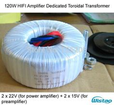 HIFI Amplifier Dedicated Toroidal Transformer 120W Wire Double 18V or Dual 22V for LM4766 TA2022 LM3886 amplifier for your DIY US $23.99 / piece