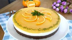 Yemeye doyamayacağınız harika bir tatlı var sırada! Portakal Soslu İrmik Tatlısı hem yapması kolay h Panna Cotta, Pudding, Fruit, Cake, Ethnic Recipes, Desserts, Karma, Food, Tailgate Desserts