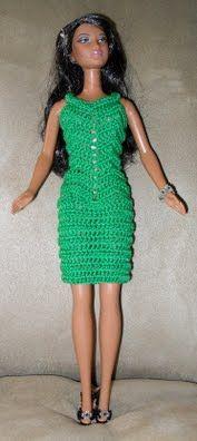 Vestido para Barbie a ganchillo Zig-Zag, patrón gratis