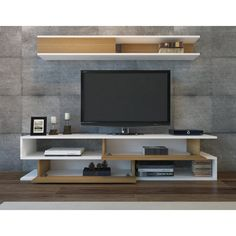 Creative Simple TV Wall Decor Idea for Living Room Design - Pajero is My Dream Tv Cabinet Design, Tv Wall Design, Tv Wanddekor, Corner Tv Unit, Corner Tv Stands, Tv Stand And Entertainment Center, Tv Unit Furniture, Simple Tv, Tv Stand Designs