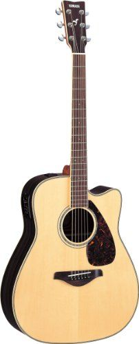 Yamaha FGX730SC Solid Top AcousticElectric Guitar  Rosewood Natural >>> Click image to review more details.