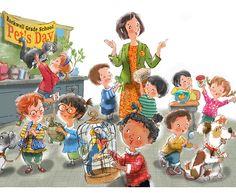 John Nez Illustration - Pet's Day at School