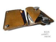 Leather Wallet Brown Handmade Minimal Wallet от MyLeatherCase
