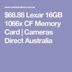 $68.88 Lexar 16GB 1066x CF Memory Card | Cameras Direct Australia