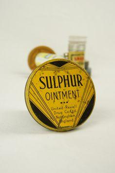 Vintage Sulphur Ointment Tin Chemist by TheLotAntiquesandArt
