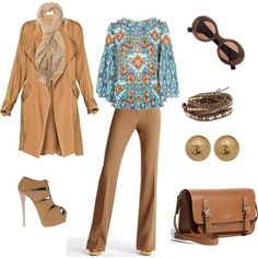 blue and brown, created by #polyvorian-218 on #polyvore. #fashion #style Tory Burch Victoria's Secret