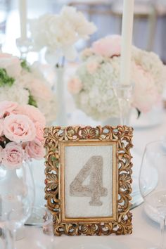 I love this table number! photo Rebecca Wood