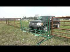 Drive Over Gate - also a Cattle Guard Alternative - YouTube