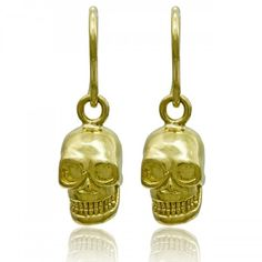 Check out the deal on Enduring Gold Skull Earrings at Eco First Art