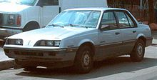 1988 Pontiac Sunbird. My first NEW car. Mine was actually a gold color.