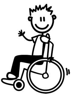 Autosticker in witte lijnen van vader die in de rolstoel zit. Doodle Drawings, Charlie Brown, Boys, Vaders, Stel, Character, Stickers, Autos, Baby Boys