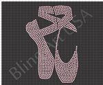Rhinestone Ballet Shoes Design Template Download